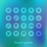 Set of dentistry symbols Royalty Free Stock Image