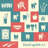 Set of dentistry symbols, part 1 Royalty Free Stock Photography