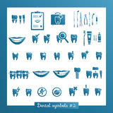 Set of dentistry symbols, part 2 Stock Photography