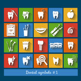 Set of dentistry symbols. part 1 Stock Photography
