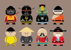 Set der chinesischen Karikatur Lizenzfreie Stockfotografie