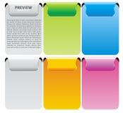 Set der Farben-vektorfahne Lizenzfreies Stockbild