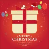 Set der frohen Weihnachten Stockbilder