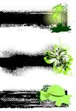 Set der grunge Sommerfahne stock abbildung