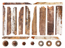 Set der hölzernen Planke Lizenzfreie Stockbilder