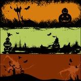 Set der Halloween-Kartenauslegung Lizenzfreies Stockbild