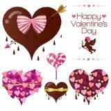 Set der Innersüßigkeit des Valentinsgrußes Lizenzfreie Stockfotos