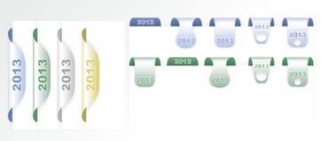 Set der Kennsätze des neuen Jahres Lizenzfreies Stockbild