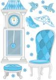 Set der Möbel- und Zubehörprinzessin Lizenzfreie Stockbilder