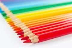 Set der mehrfarbigen Bleistiftnahaufnahme Stockfotos