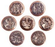 Set der persischen dekorativen kupfernen Platte. Lizenzfreies Stockfoto