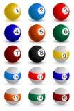 Set der Snooker-Kugel lizenzfreie abbildung