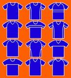 Set der T-Shirts. stock abbildung