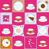 Set der Teecupauslegung Lizenzfreies Stockbild