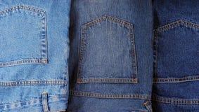 Set der unterschiedlichen Art der Blue Jeans Lizenzfreies Stockbild