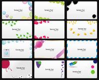 Set der vektorVisitenkarte Stockbilder