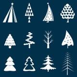Set der Weihnachtsbaumauslegung Stockfotos