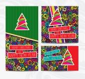 Set der Weihnachtskarte Lizenzfreies Stockfoto