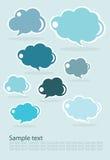 Set der Wolken, des Purpurs und des Rosas Stockfotos