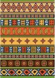 Set des afrikanischen Musters Lizenzfreies Stockbild