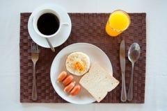 Set des amerikanischen Frühstücks Stockbilder