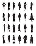 Satz des Modefrauenvektors Stockfoto