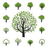 Set des Baums Lizenzfreies Stockbild