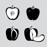 Set des dekorativen Apfels Stockfotografie