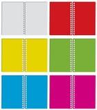 Set des Farbennotizblockes Stockfotos