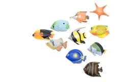 Set des Fischmagneten Lizenzfreies Stockfoto