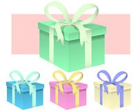 Set des Geschenkes Stockbild