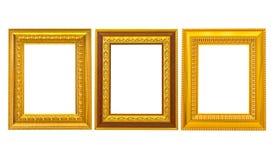 Set des goldenen Weinlesefeldes Stockfoto