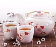 Set des grünen Tees Lizenzfreie Stockfotografie
