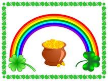 Set des Heiliger Patrick-Tages stock abbildung