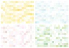 Set des hellen fantastischen Mosaiks Stockfoto