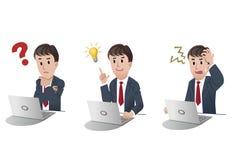 Set des Karikaturgeschäftsmannes Lizenzfreies Stockfoto