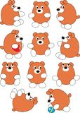 Set des Karikaturschätzchenbären Stockfoto