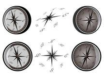 Set des Kompassses Lizenzfreies Stockbild