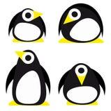 Set des Pinguins Lizenzfreie Stockfotografie