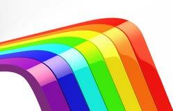 Set des Regenbogens 3d Lizenzfreies Stockfoto