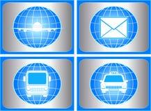 Set des Symbols mit Ladung und Verschiffen kennzeichnen Stockfoto
