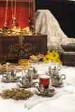 Set des türkischen Kaffees stockbild