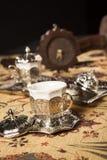 Set des türkischen Kaffees Lizenzfreies Stockfoto