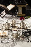 Set des türkischen Kaffees Stockfoto