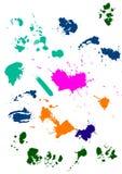 Set des Tintenklekses Lizenzfreies Stockfoto