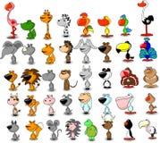 Set des unterschiedlichen netten Tiervektors Stockfotos