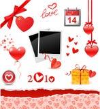 Set des Valentinsgrußes Lizenzfreies Stockbild