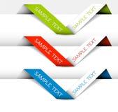 Set des vektorpapier origami Farbbands Lizenzfreie Stockfotografie