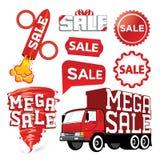 Set des Verkaufsvektors Lizenzfreie Abbildung