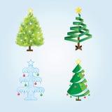Set des Weihnachtsbaums Lizenzfreie Abbildung